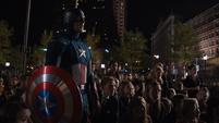 Capitan America llega al lugar