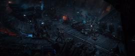 Vengadores y Guardianes luchando