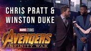 Chris Pratt and Winston Duke Live at the Avengers Infinity War Premiere