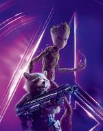 AIW - Póster sin texto de Rocket y Groot