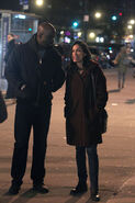 Mike and Rosario Luke Cage BTS 30