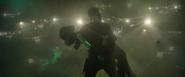 Peter y Gamora en el espacio