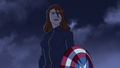 Widow with Cap's Shield A! 03