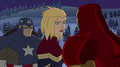 Captains America & Marvel & Iron Man
