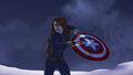 Widow with Cap's Shield A! 02