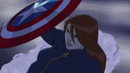Widow with Cap's Shield A! 04