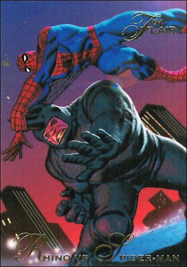 Aleksei Sytsevich (Earth-616) and Peter Parker (Earth-616) from Marvel Annual Flair Trading Cards 1994 Set 0001.jpg