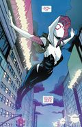 Gwendolyn Stacy (Earth-65) and Venom (Symbiote) (Earth-65) from Ghost-Spider Vol 1 1 001