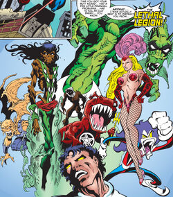 Lethal Legion (Earth-1298) and Beyonder (Earth-1298) from Mutant X Annual Vol 1 2001 0001.jpg