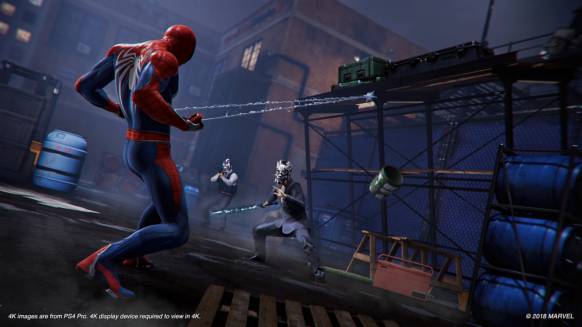 Peter Parker (Earth-1048) and Demons (Earth-1048) from Marvel's Spider-Man (video game) 0001.png