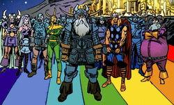 Asgardians (Earth-9997) Universe X Vol 1 4.jpg