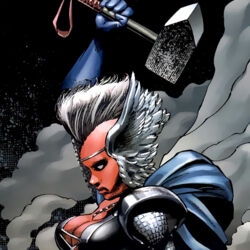 Ororo Munroe (Earth-616) and Stormcaster from X-Men To Serve and Protect Vol 1 3 0001.jpg