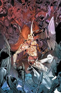 Dísir (Earth-616) vs. Aldrif Odinsdottir (Earth-616) from Angela Asgard's Assassin Vol 1 4 001.jpg