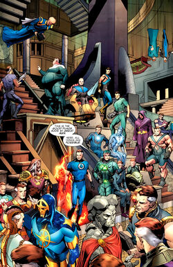 Interdimensional Council of Reeds (Multiverse) from Fantastic Four Vol 1 570 0001.jpg