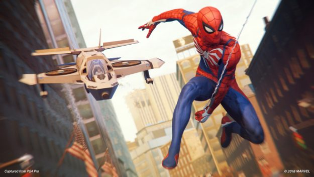 Peter Parker (Earth-1048) and Sable Sablinova (Earth-1048) from Marvel's Spider-Man (video game) 001.jpg