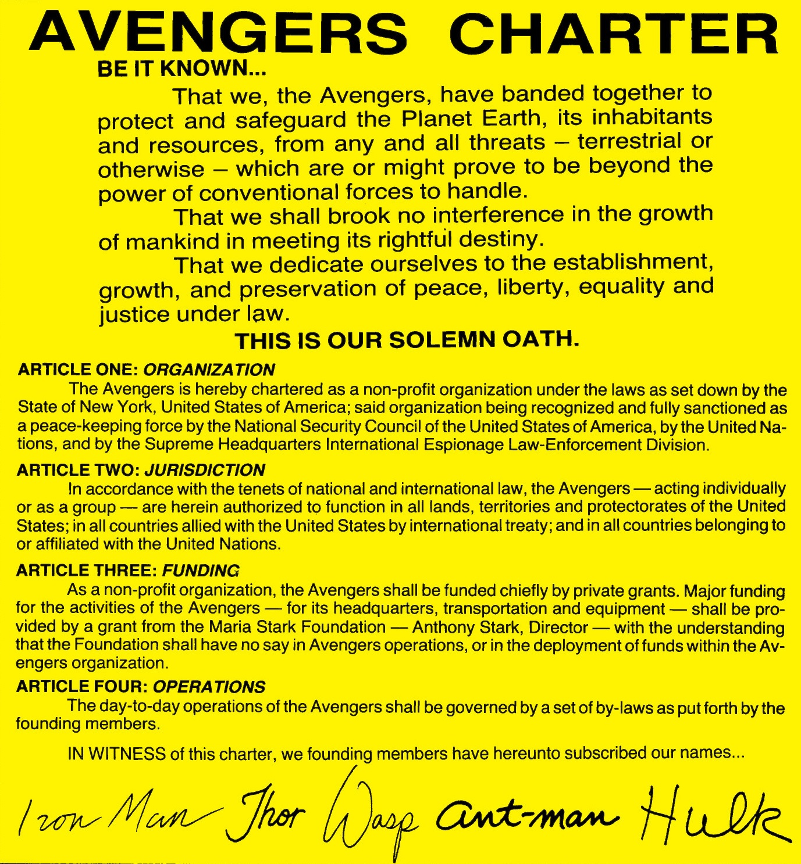 Avengers Charter/Gallery