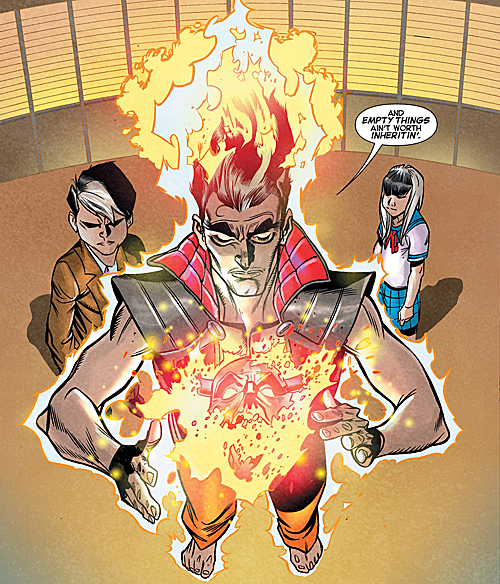 David Haller (Earth-616), Karasu-Tengu (Earth-616), Sojobo-Tengu (Earth-616) from X-Men Legacy Vol 2 3 0001.png