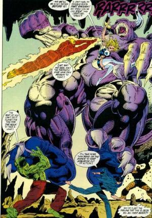 Megataur (Earth-616) from Fantastic Four Unlimited Vol 1 4 0001.jpg