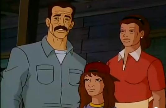Edward Guthrie (Earth-92131), Ellen Guthrie (Earth-92131), and Paige Guthrie (Earth-92131) from X-Men The Animated Series Season 5 12 001.jpg