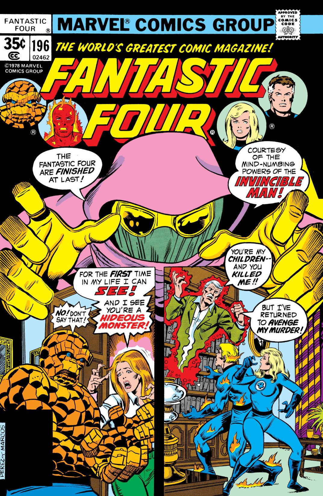 Fantastic Four Vol 1 196
