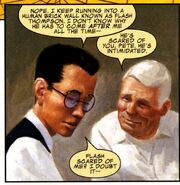 Benjamin Parker (Earth-616) and Peter Parker (Earth-616) from Mythos Spider-Man Vol 1 1 001