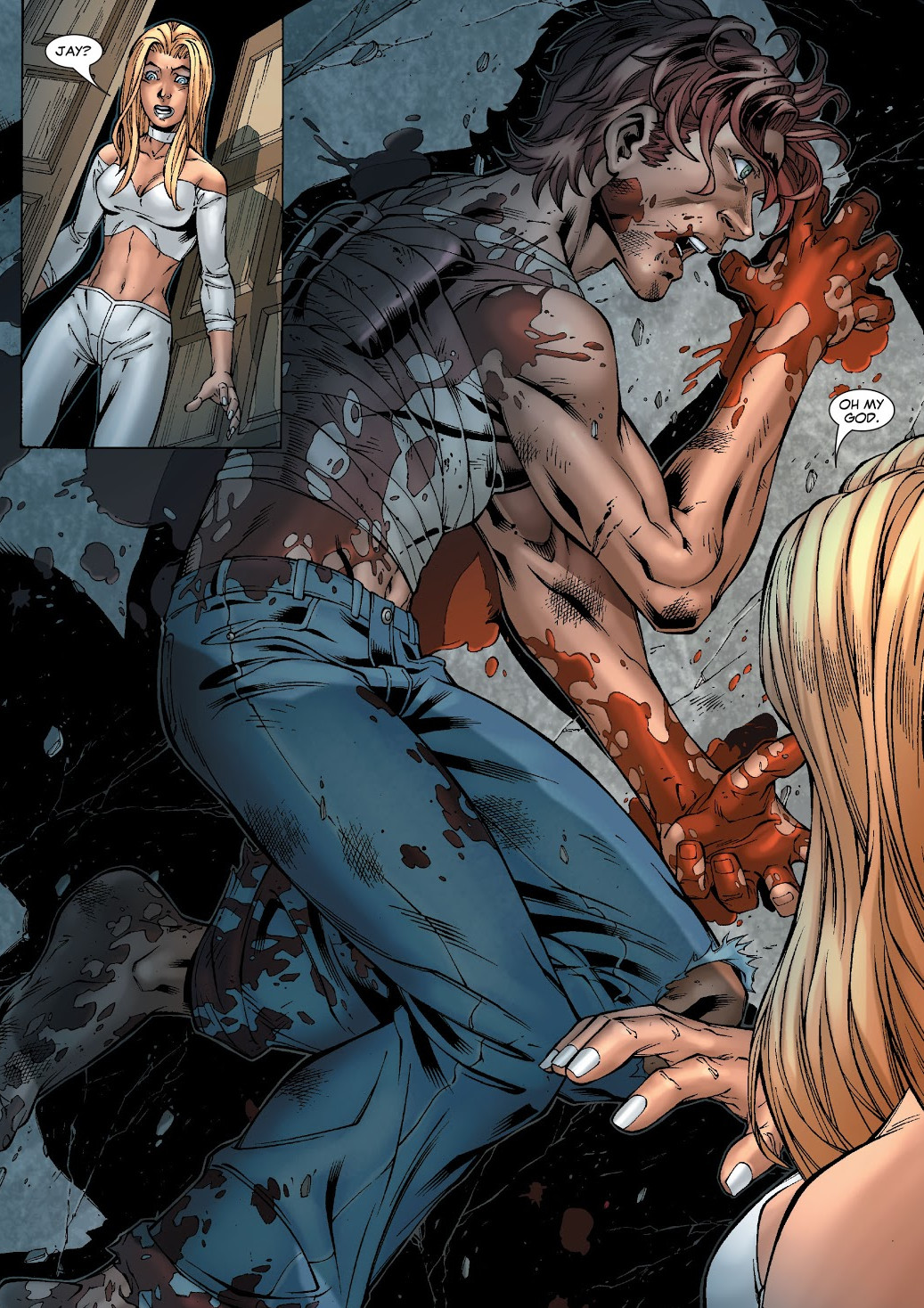 Emma Frost (Earth-616) and Joshua Guthrie (Earth-616) from New X-Men Vol 2 20 0001.jpg