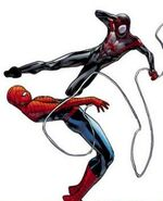 Peter Parker (Earth-616) vs. Miles Morales (Earth-1610) from Spider-Men Vol 1 2 001