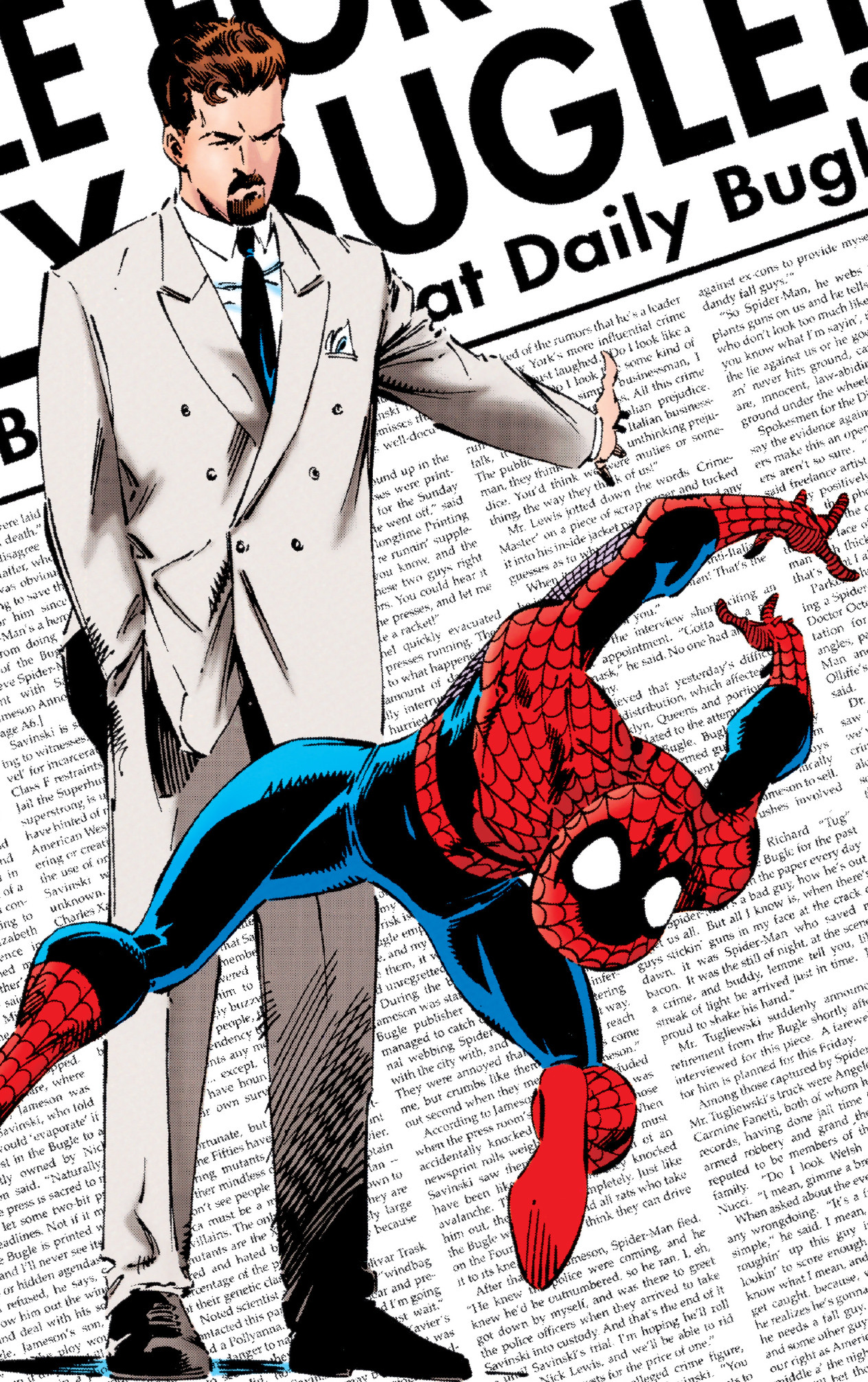 Gordon Savinski (Earth-616) and Peter Parker (Earth-616) from Untold Tales of Spider-Man Vol 1 15 (Cover).jpg