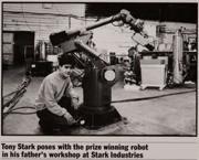 Anthony Stark (Earth-199999) and Dum-E from Iron Man (film) 001.jpg