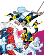 X-Men (Earth-616) and Max Eisenhardt (Earth-616) from X-Men Vol 1 1 cover