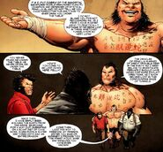 Fat Cobra (Earth-616) and James Howlett (Earth-616) from Wolverine Vol 4 18 0001