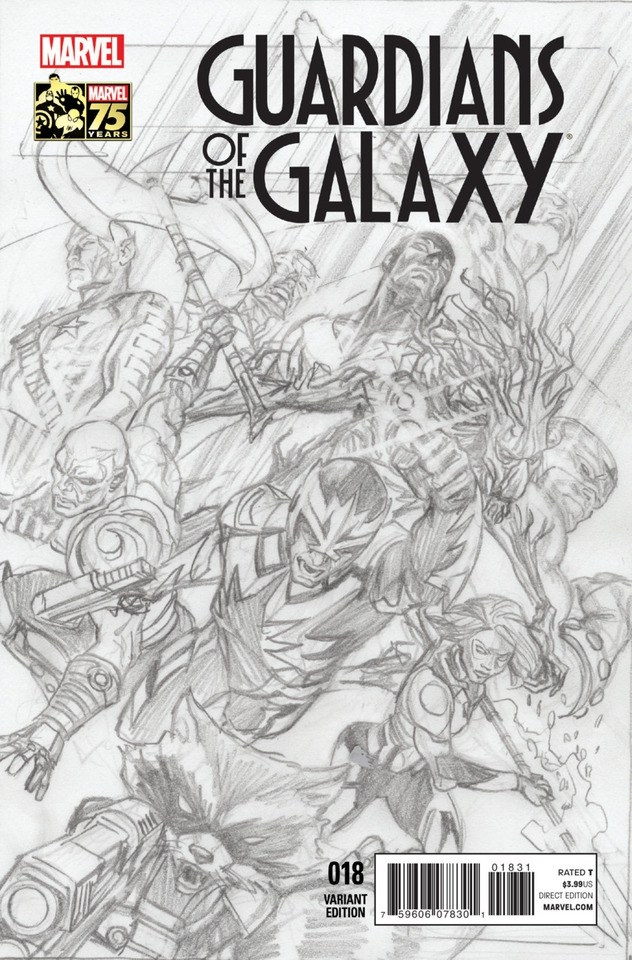 Guardians of the Galaxy Vol 3 18 Marvel Comics 75th Anniversary Sketch Variant.jpg