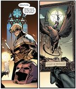 Knight of Pentacles Tarot Card from X of Swords Stasis Vol 1 1 001