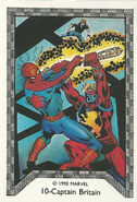 Brian Braddock (Earth-616) and Peter Parker (Earth-616) from Spider-Man Team-Up (Trading Cards) 001