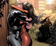 Jessica Drew (Earth-616) and Clinton Barton (Earth-616) from Avengers Vol 4 24.1 001
