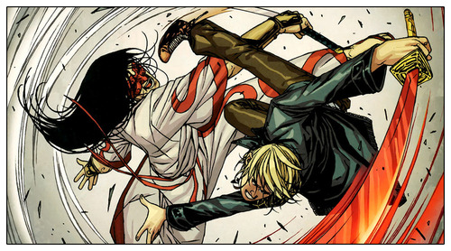 Alexander Aaron (Earth-616) vs. Tomi Shishido (Earth-616) from Secret Warriors Vol 1 21 002.jpg