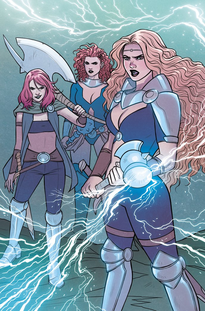 Goddesses of Thunder (Earth-14412) from Mighty Thor At the Gates of Valhalla Vol 1 1 001.jpg