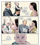 Howard Stark (Earth-616), Maria Stark (Earth-616) and Anthony Stark (Earth-616) from International Iron Man Vol 1 7 001