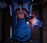 May Parker (Earth-1048) dies in front of Peter Parker (Earth-1048) from Marvel's Spider-Man (video game)