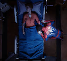 May Parker (Earth-1048) dies in front of Peter Parker (Earth-1048) from Marvel's Spider-Man (video game).jpg