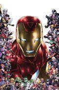 Tony Stark Iron Man Vol 1 15 Marvel 80th Frame Variant Textless