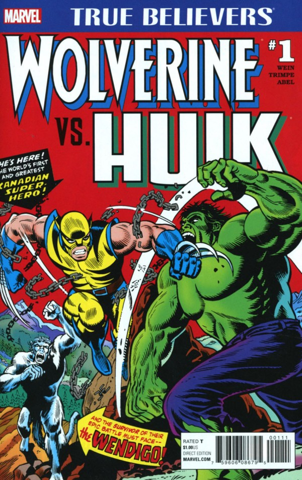 True Believers: Wolverine vs. Hulk Vol 1 1