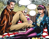 Anthony Stark (Earth-616) and Rumiko Fujikawa (Earth-616) from Iron Man Vol 3 13 001.jpg