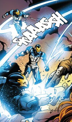 Iron Man Sentries (Earth-616) from Guardians of the Galaxy Vol 4 15 001.jpg