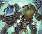 James Howlett (Earth-7642) and Autobots (Earth-7642) from New Avengers Transformers Vol 1 4 001.jpg