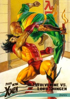 Shingen Harada (Earth-616) vs. James Howlett (Earth-616) from Ultra X-Men Wolverine (Trading Cards) 001.jpg