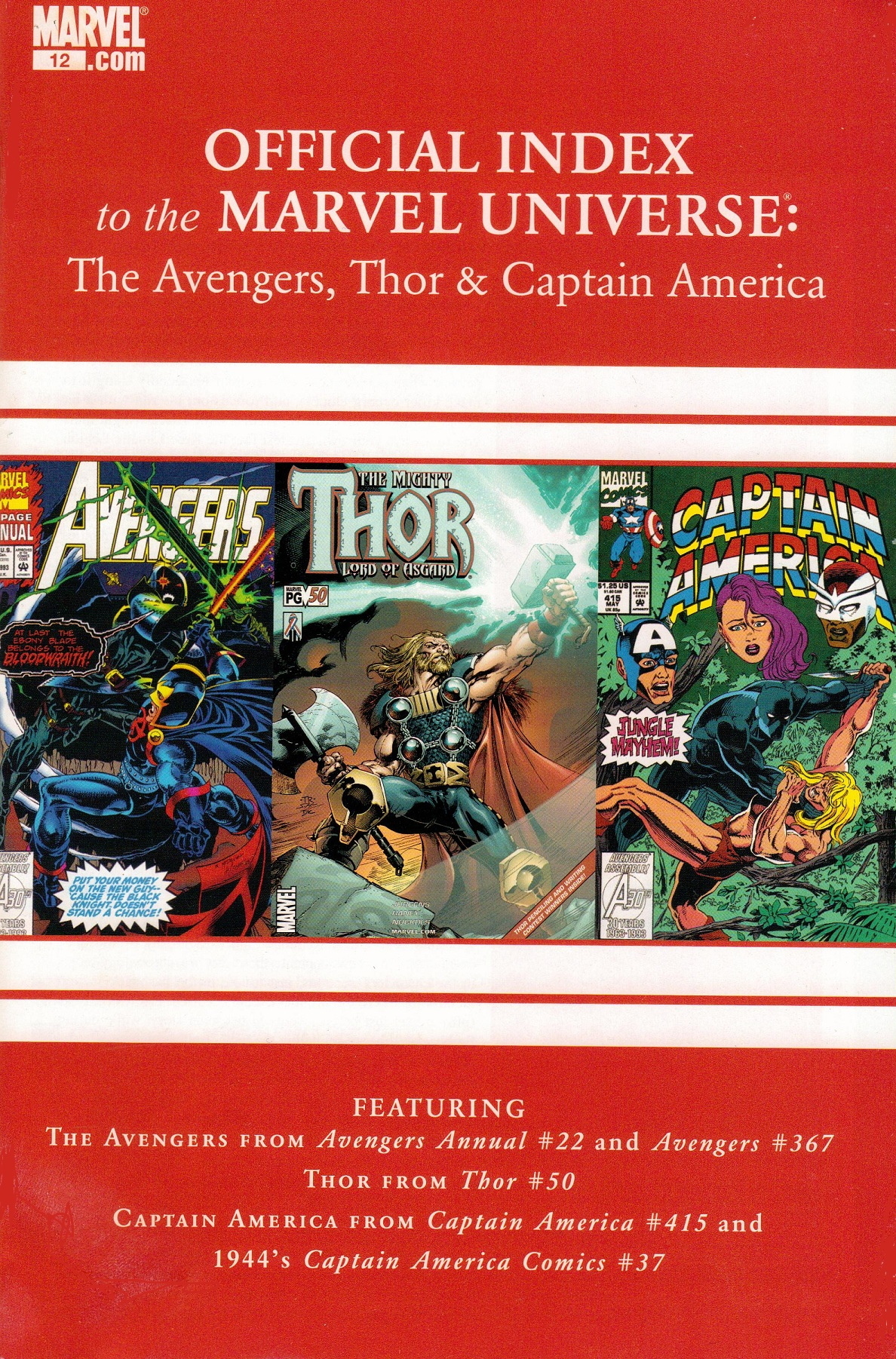Avengers, Thor & Captain America: Official Index to the Marvel Universe Vol 1 12