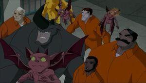 Silvio Manfredi (Earth-26496), Enforcers (Earth-26496), Alexander O'Hirn (Earth-26496), and Humonculi from Spectacular Spider-Man (Animated Series) Season 2 12 0001.jpg