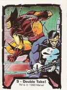 James Howlett (Earth-616) and Frank Castle (Earth-616) from Jim Lee (Trading Cards) 001
