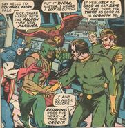 Steven Rogers (Earth-616), Samuel Wilson (Earth-616), Redwing (Earth-616), Nicholas Fury (Earth-616), and Timothy Dugan (Earth-616) from Captain America Vol 1 135 0001